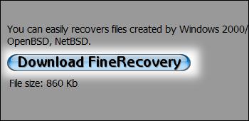 FineRecovery ダウンロード