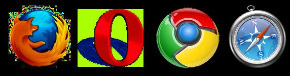 Firefox Opera Chrome Safari