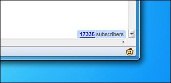 Google Reader Subscribers Count