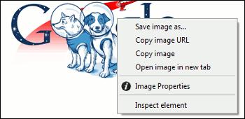 Image Properties Context Menu