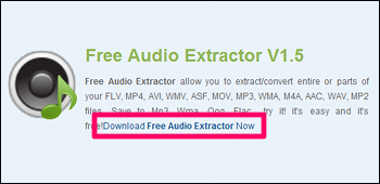 Free Audio Extractor ダウンロード