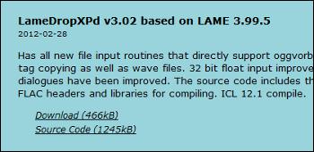 LameDropXPd  ダウンロード