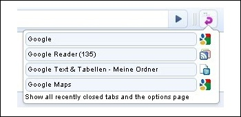 Recently Closed Tabs