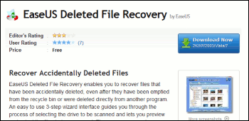 EASEUS Deleted File Recovery ダウンロード