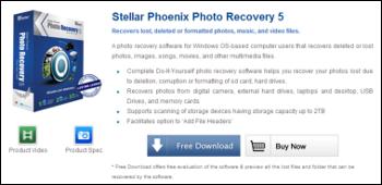 Stellar Phoenix Photo Recovery ダウンロード
