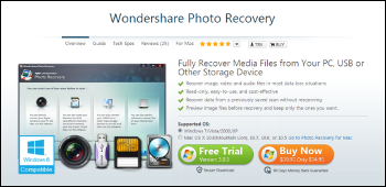 Wondershare Photo Recovery ダウンロード