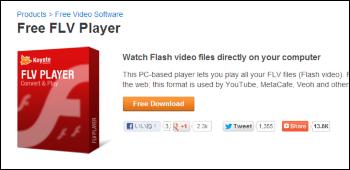 Free FLV Player ダウンロード