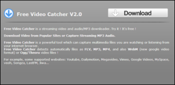 Free Video Catcher ダウンロード