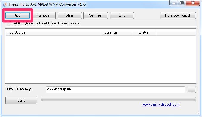 Freez flv to avi mpeg wmv converter