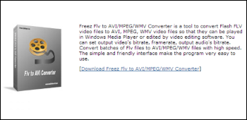 Freez FLV to AVI MPEG WMV Converter ダウンロード