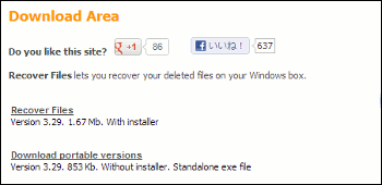 Recover Files ダウンロード