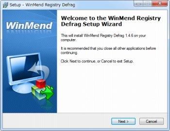 WinMend Registry Defrag